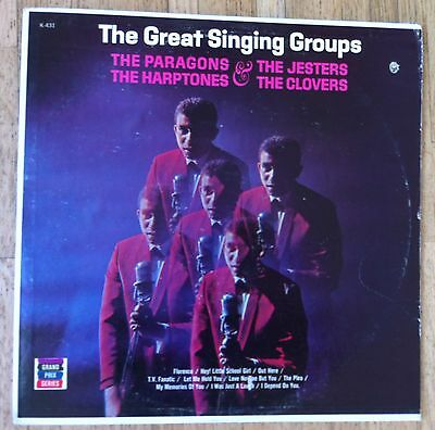THE GREAT SINGING GROUPS Paragons, Jesters, Harptones, Clovers LP/CO