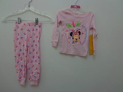 Disney Store girls pajamas size 2T NWT Minnie Mouse pink