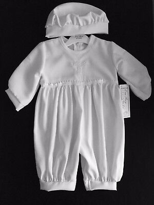 Baby Boys White Christening Romper/outfit/suit,cap,celtic Cross, Baptism,dupion
