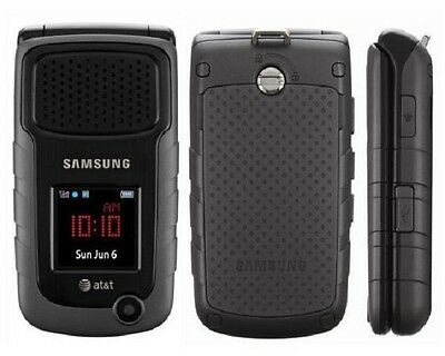 Samsung Rugby 2 II A847 Black (AT&T) GSM - EXCELLENT CONDITION - Flip Phone
