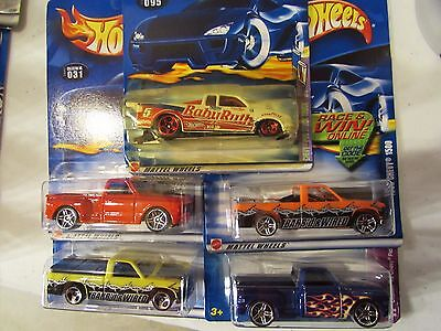 Hot Wheels Lot of (5) Chevy Truck Types!! All Different Lot #1