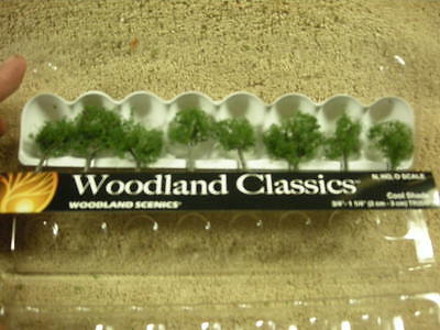 "1 1//4/"" Ready Made Trees TMC TR3547 Woodland Scenics Cool Shade 8 Pack 3//4/"""