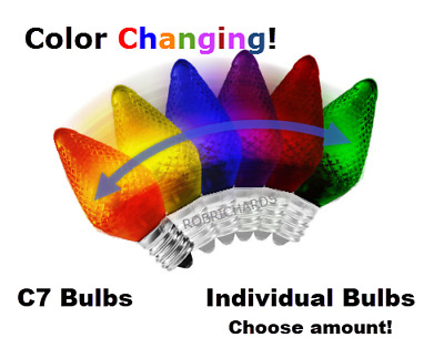 LED - Color Changing Bulbs - Refrigerator - Night Light - Christmas - C7 (E12)