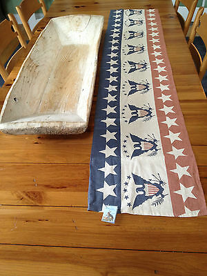 Vintage Inspired - EAGLE AND STARS TABLE RUNNER - Americana Patriotic 2014
