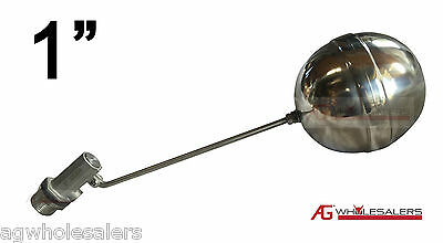 """1"""" Float Valve -All Stainless Steel- Water Trough Automatic Cattle Bowl Tank"""