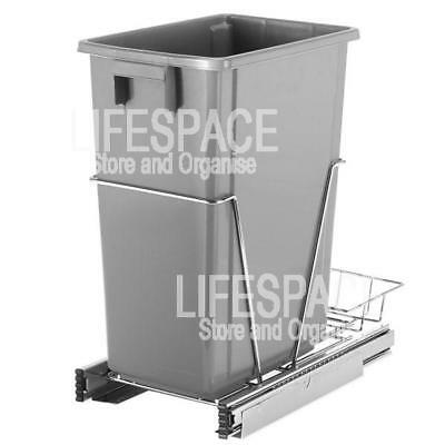 NEW Whitmor Pull Out Waste Bin for Kitchen Cupboard