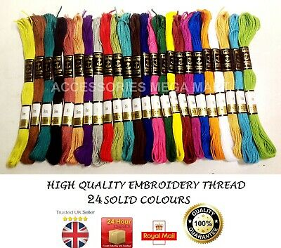 25 Anchor Pearl Cotton Cross stitch thread floss / skeins Mix Solid & Varigated