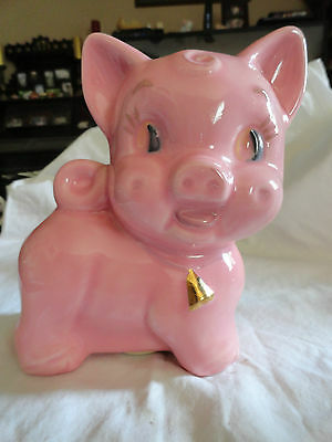 Vintage Style Hand Crafted & Painted Pink Piggy Bank, Great Condition!! Cute!!