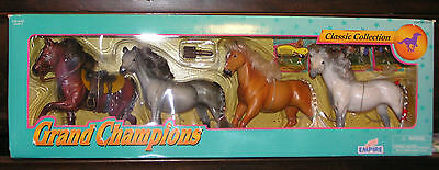 Grand Champions Classic 4 Horse Set Collection 1995 Empire Model Horses NRFB OoP