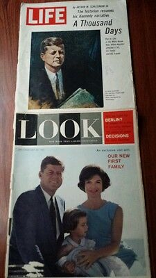 Kennedy JFK first family 1965 LIFE & 1961 LOOK Magazine Rookie Dick Butkus GVC