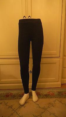 Brand New Ladies' Style& Co, Navy Stretch Leggings With Stone Buttons on Ankle