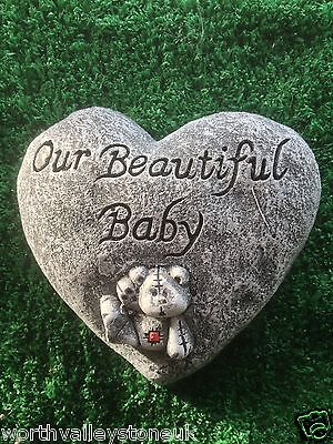 "Memorial Stone / Plaque / Heart/ Gravemarker ""our Beautiful Baby"""