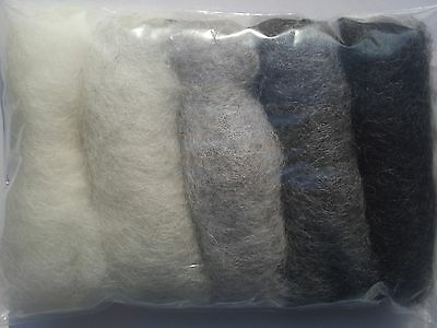Carded wool fiber for needle felting crafts-15grams-5C#146