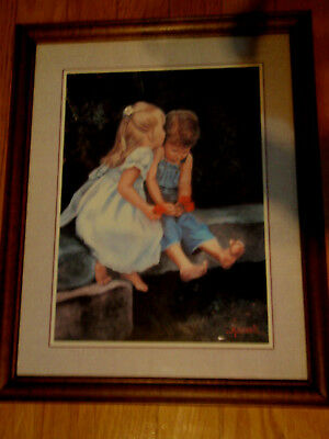 By M Caroselli boy and girl barefoot girl kissing boy (Reduced