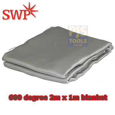 SWP welding blanket 2m x 1m glass fibre anti slip coated fire spark blanket