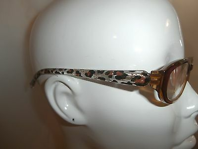 NEW FOSTER GRANT READING EYE GLASSES +1.50 BROWN OMBRE SPARKLE TIGER PRINT $16