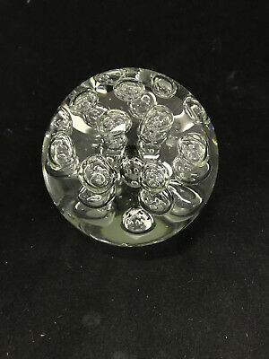 Glass Paperweight With Bullicante and LDE Lihgt base (Controlled Bubbles)