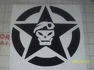 """CALL OF DUTY (2 pack) SOG JEEP DECAL 6"""" choose color"""