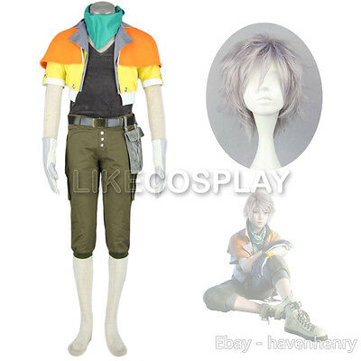 Final Fantasy XIII 13 Hope Estheim Cosplay Costume Wigs Mens Game Outfit Set