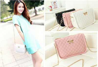 Fashion Korean New Women Ladies Handbag Shoulder Bag Quilted Chain Crossbody Mo