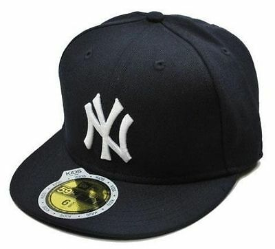 5f32661001f6e New Era 59Fifty Kids Youth Cap New York Yankees AC On Field Fitted Cap-Navy