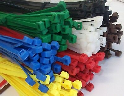 Strong Nylon Cable Ties Zip Ties Cable Tidy Multi Choice Red Green Black White