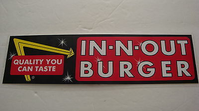 In-N-Out Burger Vintage 1980's Bumper Sticker,  For Your Car/truck Or Office