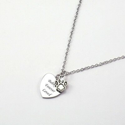 Paw Necklace with Engraving, Personalised Jewellery Gift for Cat or Dog Lover.
