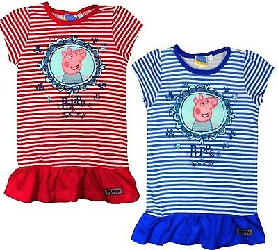 KIDS GIRLS PEPPA PIG, MY LITTLE PONY, COTTON SHORT SLEEVES TUNIC TOPS 1to 6YEARS