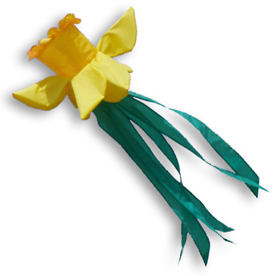 Daffodil Windsock to Fly on Telescopic Flagpole