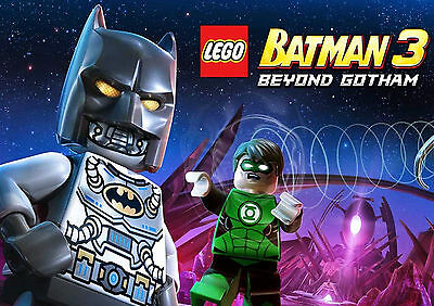 Lego Batman 3 Gaming Glossy Wall Art Poster (A1 - A5 Sizes Available)