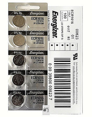 Energizer CR1616 Lithium Coin Cell 3V Fresh Date Code Batteries 45 PCs Exp: 2025