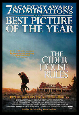 THE CIDER HOUSE RULES SS 1SH C8+ EX ORIGINAL MOVIE POSTER Reel*Pop OSCAR VERSION