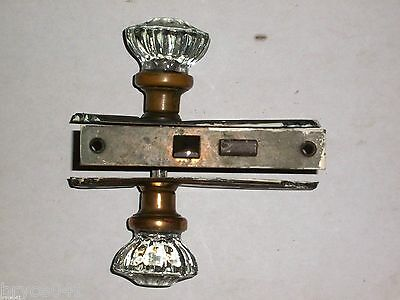 Antique Art Nouveau Mortise Lock With Plates and Knobs
