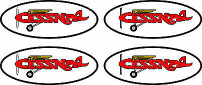 """4 Vintage Cessna Decals  4.5"""" FREE SHIPPING"""