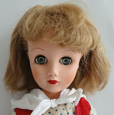 """Glamour 1950s Vintage Fashion 19"""" Tall Blonde Blue Eyes 14R Deluxe Reading DOLL"""