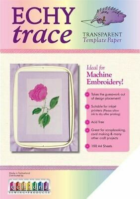 Echy Trace Transparent Template Paper 100 sheets for scrapbooking, embroidery
