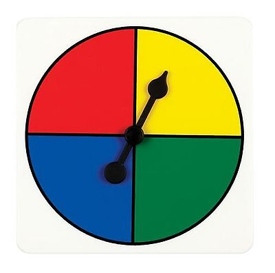 Maths Numeracy Tool - 4 Colour Spinner - Set of 2