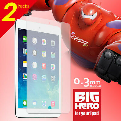 2 Packs Tempered Glass Screen Film Protector for Apple iPad Air 1 2