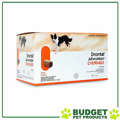 Drontal Allwormer For Dogs 3-10kg 80 Chews