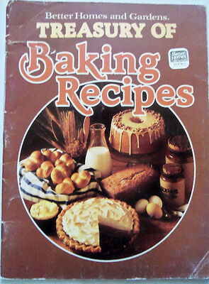 better homes & gardens treasury of baking recipes cook book 1978 vintage