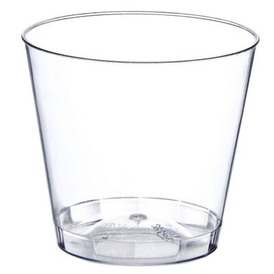 Clear 1 oz. Shot Glasses Hard Plastic Disposable Cups for Bar & Catering Bulk