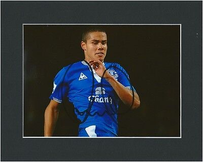 Jack Rodwell Everton Fc Hand Signed Photo Mounted Black Autograph