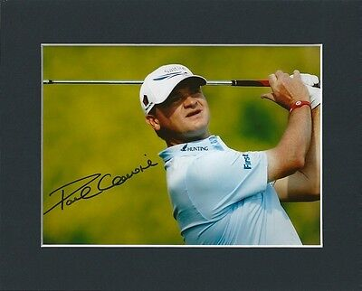 Paul Lawrie Golf Ryder Cup Hand Signed Mounted Autograph Photo Inc Coa