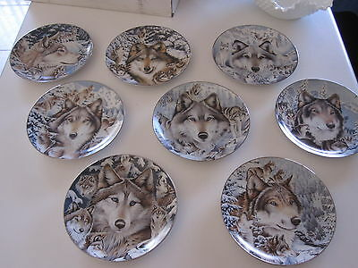 Bradford Exchange Limited Ed. Wolf Plates Windows to the Soul Complete Set of 8
