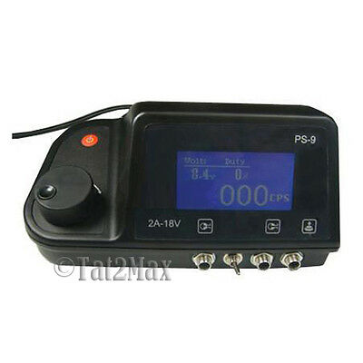 Pro LCD Digital DUAL Tattoo Power Supply Machine Clip Cord Foot Pedal