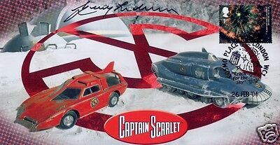 "Captain Scarlet ""Crafts"" Collectable Stamp Cover - Signed by Gerry Anderson"