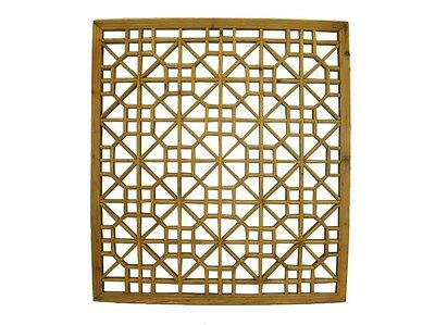 A Chinese Beautiful Antique Wood Square Screen Panel Qing Era Intricate design