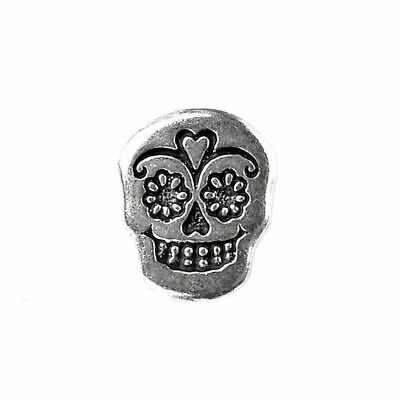 Day of the Dead Skull Lapel Pin, Gift Box Included, Guaranteed