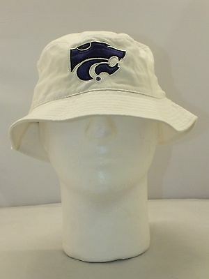 KANSAS STATE FISHING BUCKET HAT NEW BY SIZE X / L TOP OF THE WORLD E77